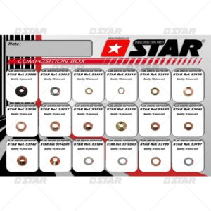 Κασετίνα ροδελών για μηχανικά μπέκ (699 τεμάχια)