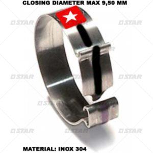Κολιέ ανοξείδωτου χάλυβα (Διάμετρο κλειστό :9,5 mm.)